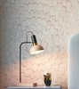 Juku Blush/Grey Metal Table Lamp by TOV Furniture