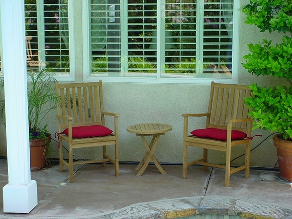 Bahama Wilshire 3-Pc Natural Finish Patio Set by Anderson Teak
