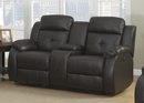 Troy 2-Piece Espresso Leather Power Recliner Sofa Set by AC Pacific