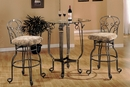 Paulina Clear Glass/Metal Bar Table by Asia Direct