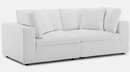 Commix White Fabric 2-Seat Sofa by Modway