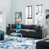 Commix Gray Fabric Overstuffed Sofa by Modway