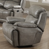 Estella Gray Leather Gel Manual Recliner by AC Pacific