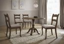 Alice Vintage Brown Wood Round Dining Table by Best Master Furniture