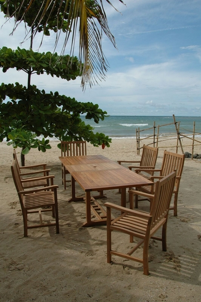 Bahama Wilshire 7-Pc Natural Finish Dining Set by Anderson Teak