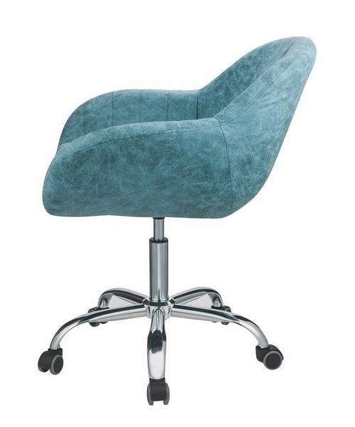 Giolla Turquoise Vintage PU Leather/Metal Office Chair by Acme