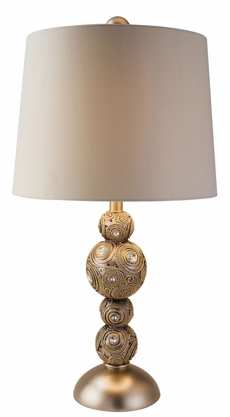 Sage Table Lamp w/Gold Embellished Base by Furniture of America