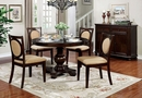 Abergele 2 Tan Linen/Brown Cherry Side Chairs by Furniture of America