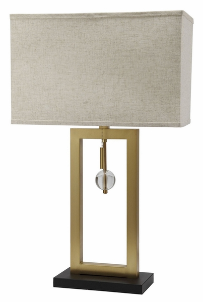 Tara Polished Gold Finish Metal Table Lamp by Furniture of America