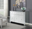 """Camari Mirrored 60"""" Accent Cabinet with Decorative Crystals by Coaster"""
