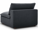 Commix 5-Pc Gray Fabric Overstuffed Sectional Sofa by Modway