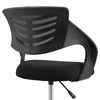Thrive Black Breathable Mesh Drafting Chair with Foot Ring by Modway