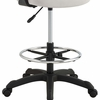 Thrive Gray Breathable Mesh Drafting Chair with Foot Ring by Modway