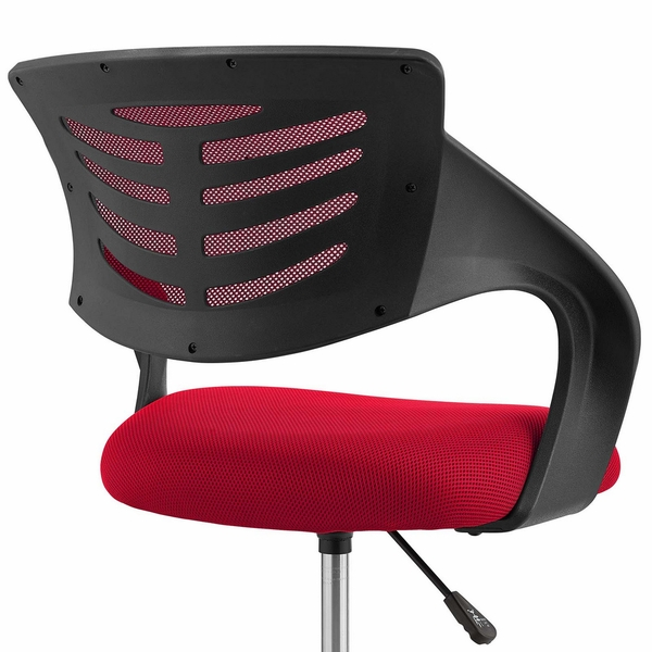 Thrive Red Breathable Mesh Drafting Chair with Foot Ring by Modway