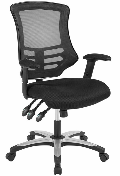 Calibrate Black Waterfall Mesh/Nylon Office Chair by Modway