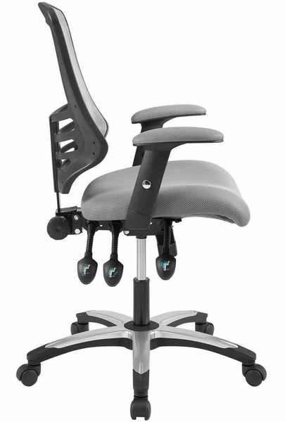 Calibrate Gray Waterfall Mesh/Nylon Office Chair by Modway