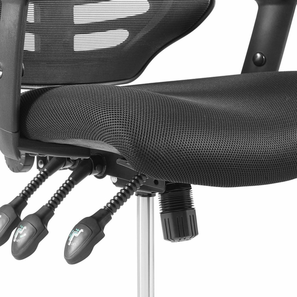 Calibrate Black Mesh/Nylon Office Chair with Foot Ring by Modway