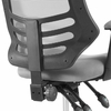 Calibrate Gray Waterfall Mesh/Nylon Office Chair w/Foot Ring by Modway