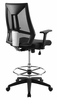 Extol Black Breathable Mesh Drafting Chair by Modway