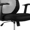 Intrepid Black Fabric Mesh Drafting Chair by Modway