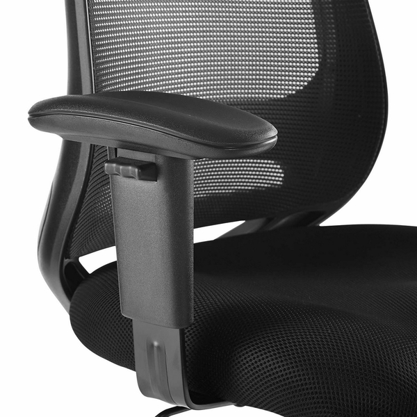 Forge Black Fabric Mesh Drafting Chair by Modway