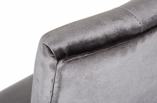 A&X Charlotte 2 Grey Soft Velour Fabric Side Chairs by VIG Furniture