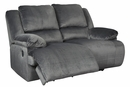 Signature Design Clonmel Charcoal Manual Recliner Loveseat by Ashley