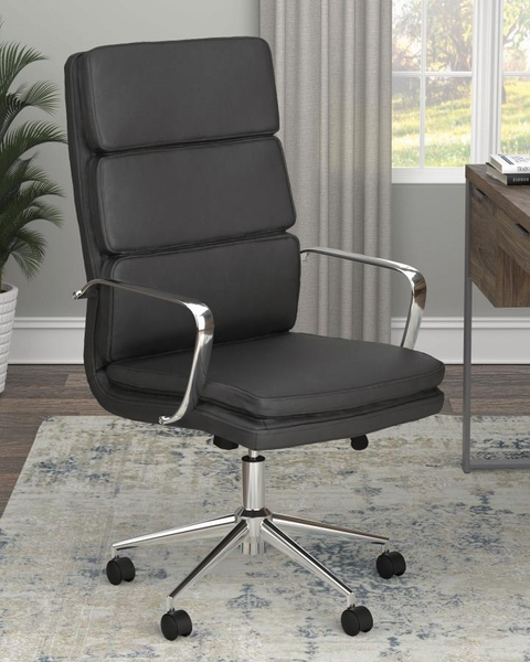 Destin Black Leatherette/Metal Adjustable Office Chair by Coaster