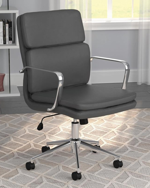 Destin Grey Leatherette/Metal Adjustable Office Chair by Coaster
