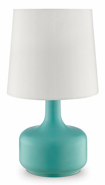 Farah Table Lamp w/Matte Teal Base by Furniture of America