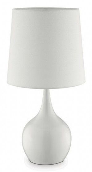 Edie Table Lamp w/Glossy White Bulb Metal Base by Furniture of America