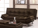 Angelica Brown PU Leather Futon Sofa Bed by Asia Direct