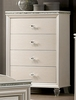 Allie Pearl White Wood 4-Drawer Chest by Furniture of America