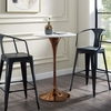 """Lippa White Wood/Rose Metal 28"""" Round Bar Table by Modway"""