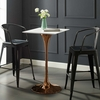 """Lippa White Wood/Rose Metal 28"""" Square Bar Table by Modway"""