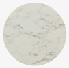 """Lippa White Artificial Marble/Rose Metal 28"""" Round Bar Table by Modway"""