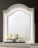 Allie Pearl White Wood/Glass Dresser Mirror by Furniture of America