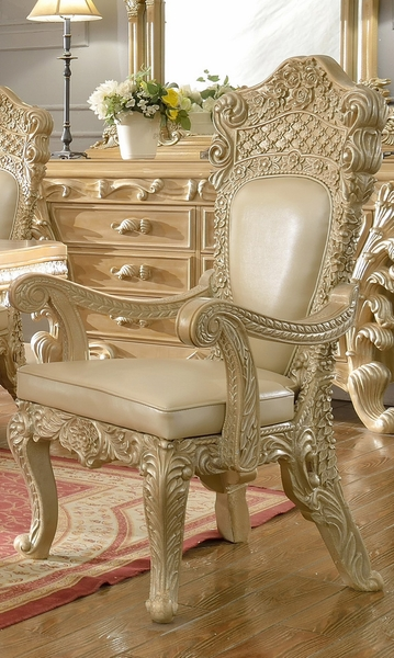 Kirsten 2 Pickle Frost/Antique Silver Arm Chairs by Homey Design