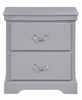Seabright 4-Pc Gray Wood Twin Bedroom Set by Homelegance