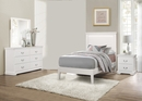 Seabright 4-Pc White Wood Twin Bedroom Set by Homelegance