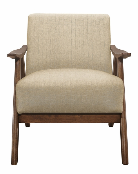 Damala Light Brown Fabric Accent Chair by Homelegance