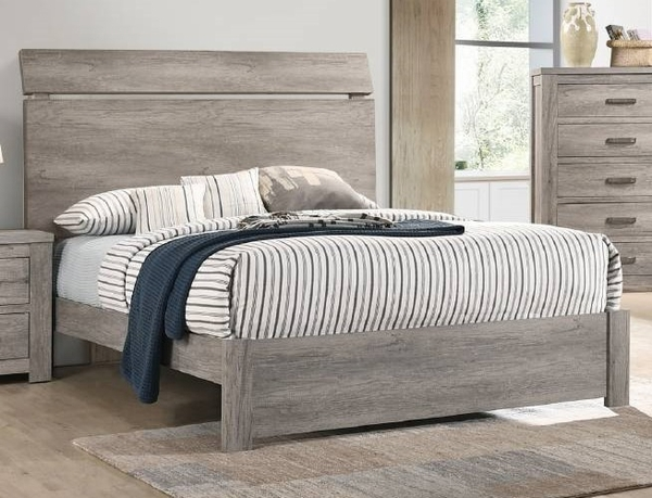 Alyx Contemporary Grey Wood Queen Bed by Poundex