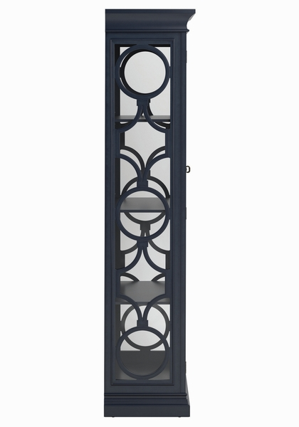 Adaline Grey Blue Wood Tall Cabinet by Coaster