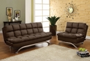 Aristo Dark Brown Leatherette Chair by Furniture of America