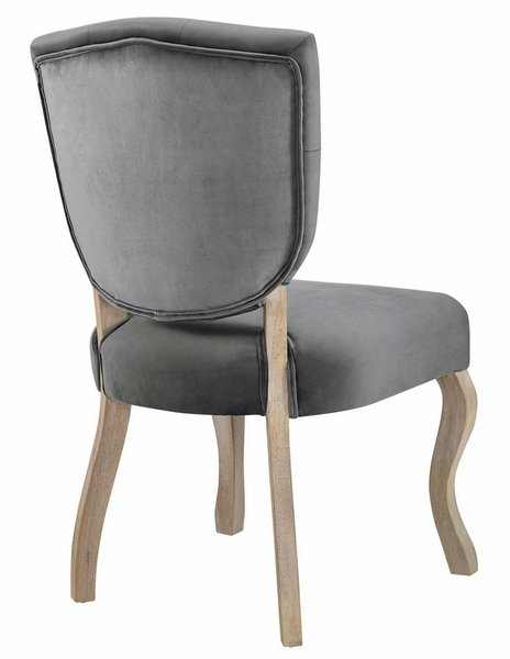 Array Gray Velvet Fabric/Wood Tufted Side Chair by Modway