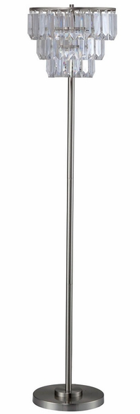 Meg Metal Floor Lamp w/Clear Hanging Crystals by Furniture of America