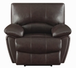 Clifford Chocolate Leather Manual Recliner by Coaster