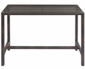 Conduit Brown Glass/Rattan Weave Patio Large Bar Table by Modway