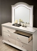 Allie Pearl White Wood 6-Drawer Dresser by Furniture of America