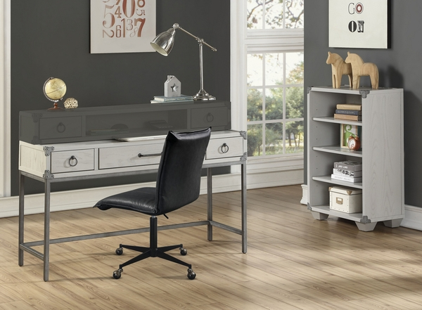 Orchest Gray Wood 3-Drawer Desk by Acme
